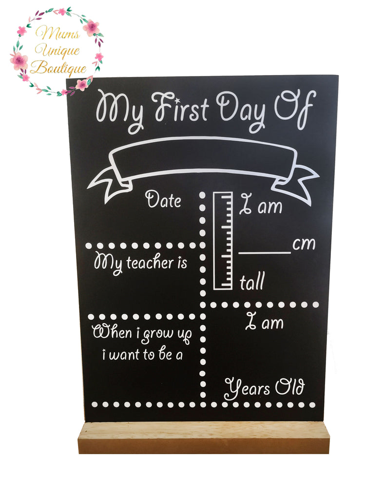 First Day of School/Daycare Dots Chalk Board with Ruler My Teacher