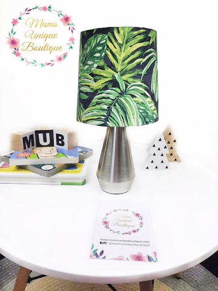 Green and Navy Leaves Touch Lamp Switch Lamp Night Light Table Lamp