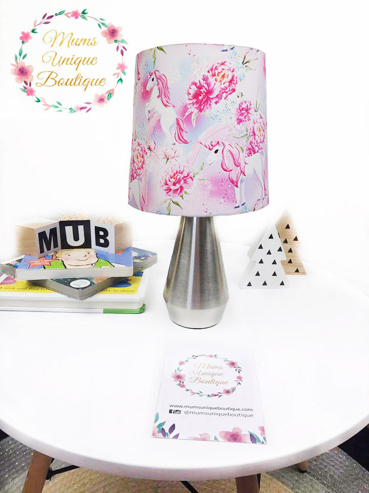 Purple Floral Unicorn Touch Lamp Switch Lamp Night Light Table Lamp