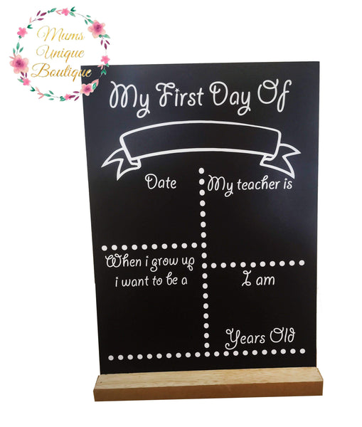First Day of School/Daycare Dots Chalk Board with Teacher