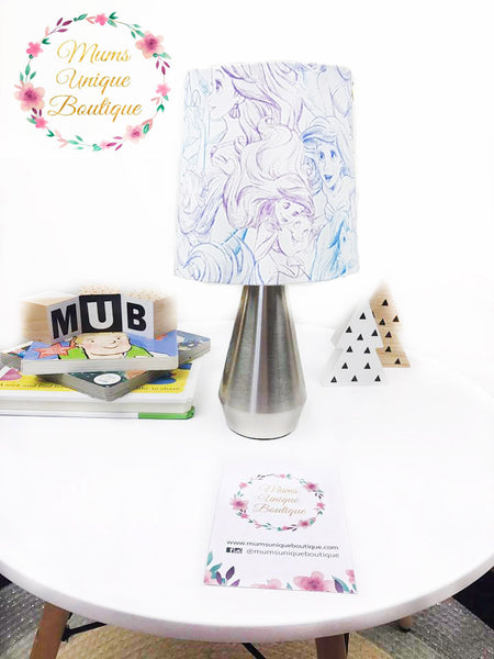 Ariel The Little Mermaid White Touch Lamp Switch Lamp Night Light Table Lamp