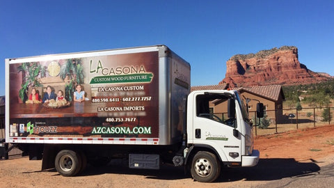 Delivery Truck - La Casona Custom Furniture - azcasona.net