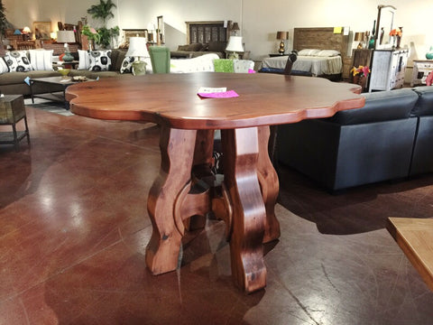 "63"" Floor Model Yugo Live Edge Mesquite Wood Pub Table - La Casona Custom Furniture - azcasona.net"