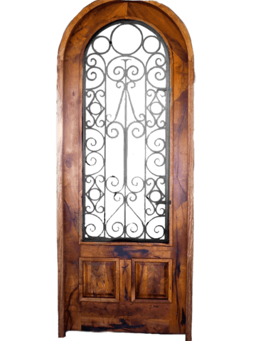 Mesquite Rustic Custom Door 2 - La Casona Custom Furniture  - azcasona.net