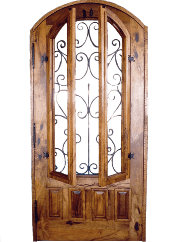 Mesquite Rustic Custom Door 3 - La Casona Custom Furniture  - azcasona.net