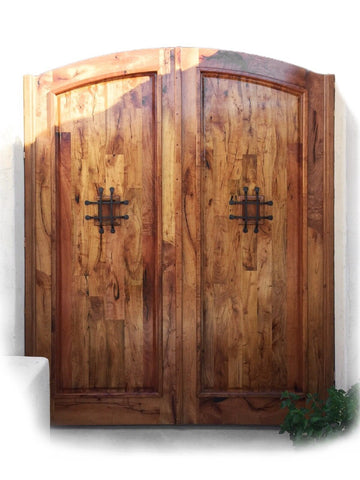 Custom Made Mesquite Wood Gates 1 - La Casona Custom Furniture - azcasona.net