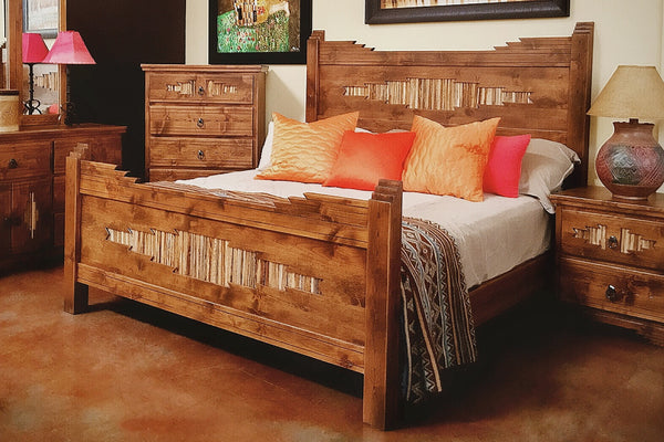 Custom Made Sahuaro Alder Bed - La Casona Custom Furniture  - azcasona.net