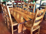 Live Edge Mesquite Rustic Dining Table 2 - La Casona Custom Furniture  - azcasona.net