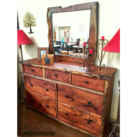 Live Edge Wood Slab Dresser - La Casona Custom Furniture  - azcasona.net
