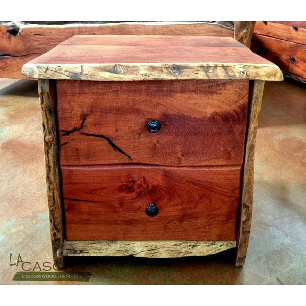 Live Edge Wood Slab Nightstand
