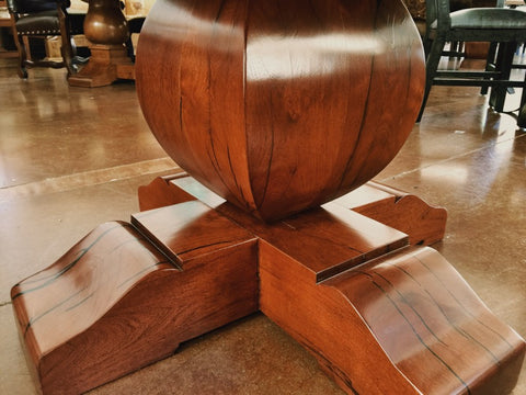 Round Tear Drop Mesquite Rustic Dining Table La Casona Custom