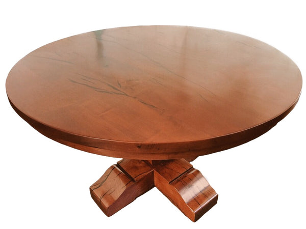 Round Tear Drop Mesquite Rustic Dining Table - La Casona Custom Furniture  - azcasona.net