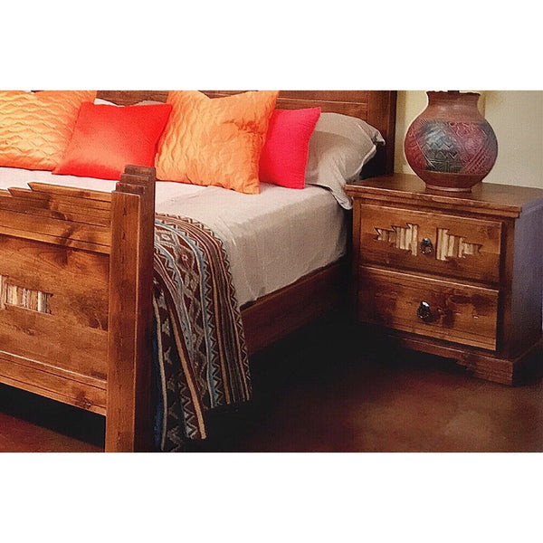 Alder Wood Nightstand Sahuaro - La Casona Custom Furniture  - azcasona.net