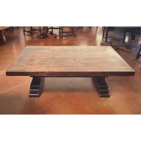 Wood Coffee Table Alder Santa Fe - La Casona Custom Furniture  - azcasona.net