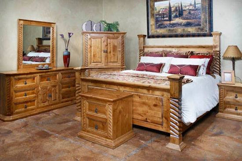 Custom Made Soga Eastern King Bed - La Casona Custom Furniture  - azcasona.net