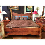 Live Edge Wood Slab Bed 2