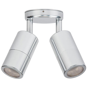 HV1366 - Tivah Silver Aluminium Double Adjustable Wall Pillar Lights