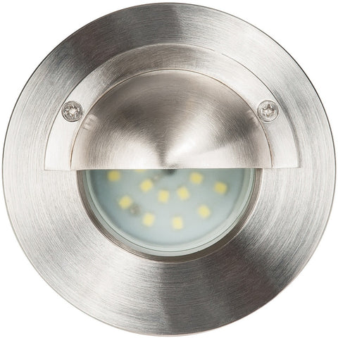 316 Stainless Steel Wall or Step Outdoor Light with Eyelid