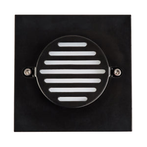 HV3219-BLK-SQ - Recreo Black Square Recessed Steplight