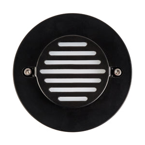HV3219-BLK-RND - Recreo - Black Round Recessed Steplight