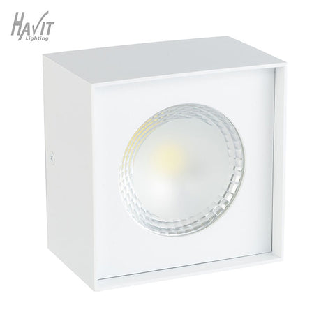 HV5842C-WHT - White Square 7w Surface Mounted Downlight