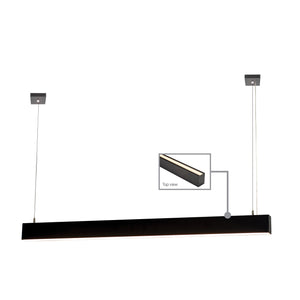 HV6004-BLK - PROLINE 6080 Black Up & Down LED Pendant