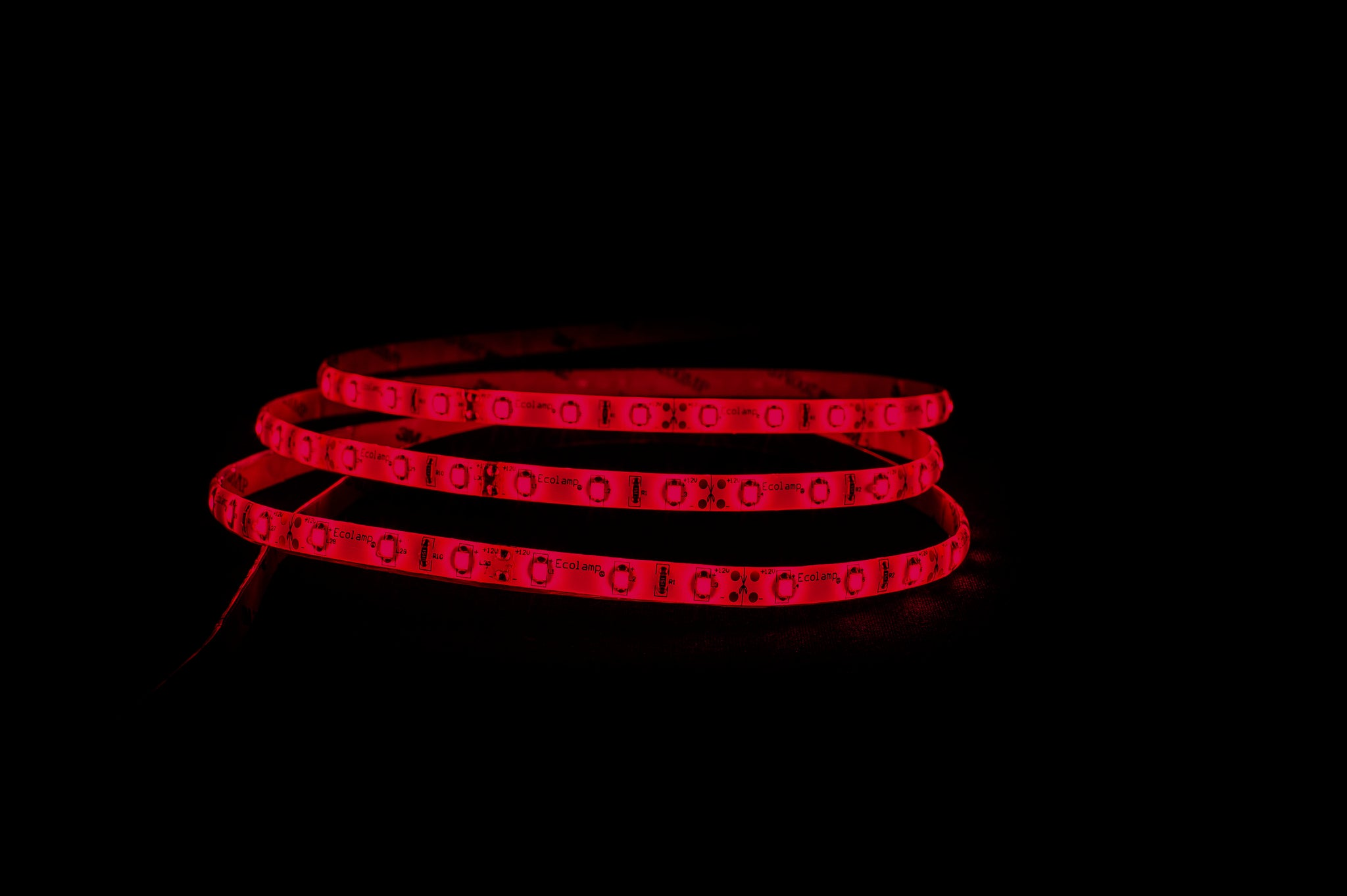 HV9735IP54-60- Red IP54 4.8w 12v DC LED Strip 5m Length