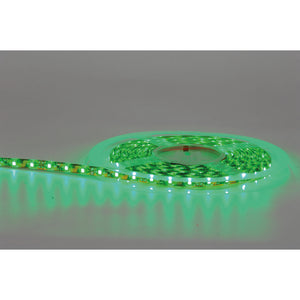 HV9737IP54-60- Green IP54 4.8w 12v DC LED Strip 5m Length