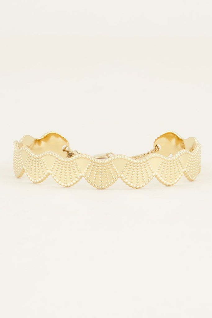 Bangle met bubbels goud