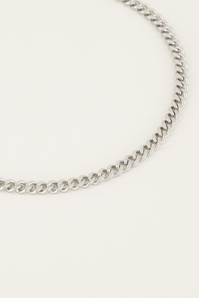 Ketting chain bold middellang zilver