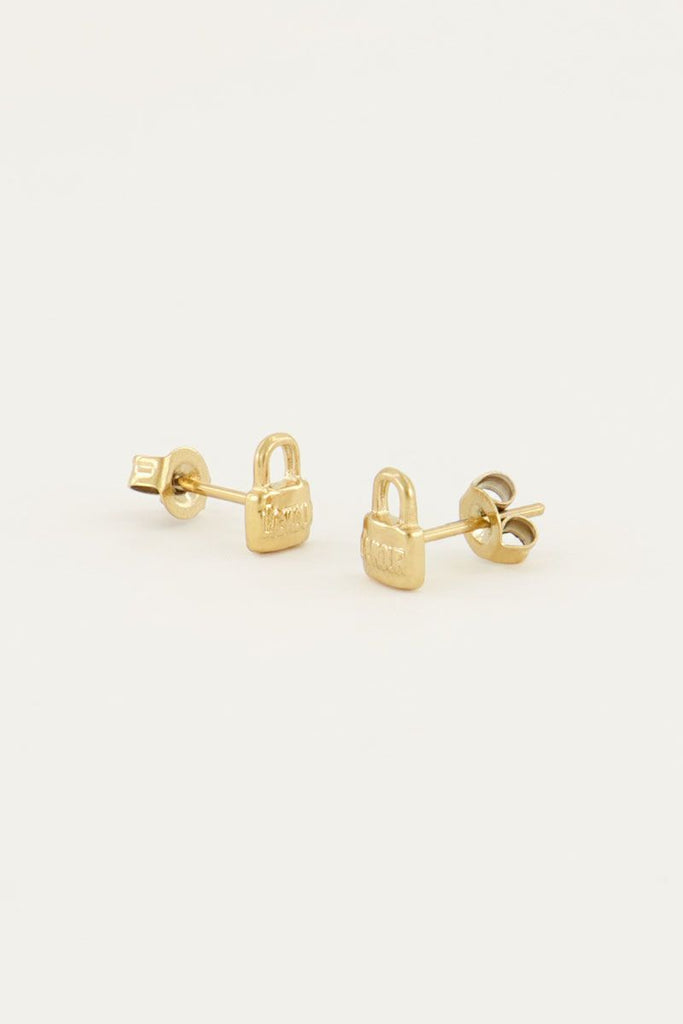 Studs love lock goud