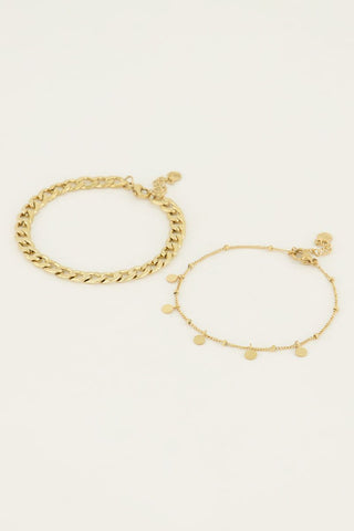 Bangle gevlochten twist goud