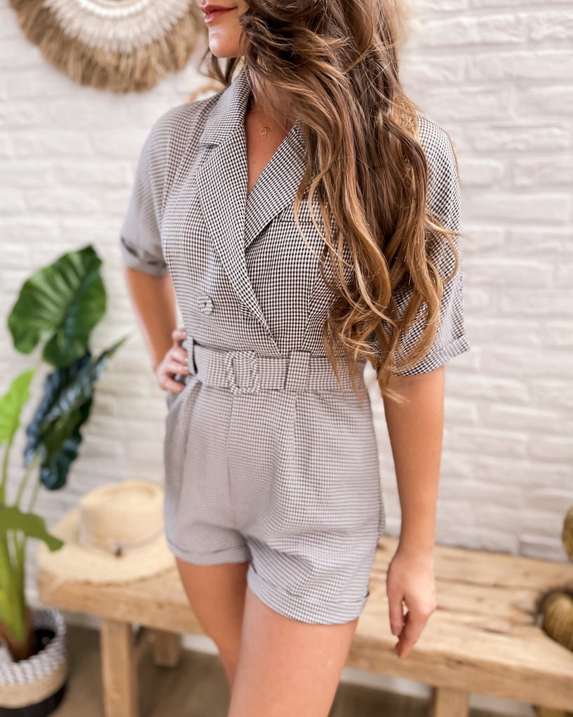 Playsuit Yfke black/white