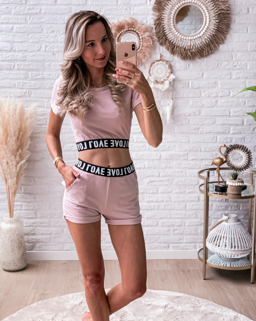Love comfy set pink (short + top) STOCKSALE 20