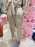 Silk comfy set (broek + top) beige STOCKSALE 21