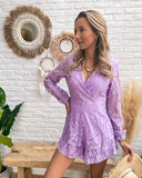 Pretty lace playsuit lila