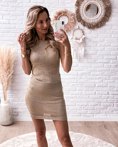 Sequin boho dress white