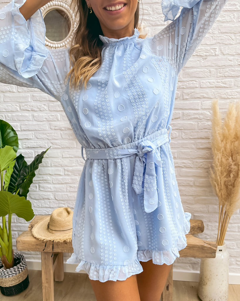The one playsuit light blue