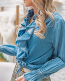 Ruches jeans blouse