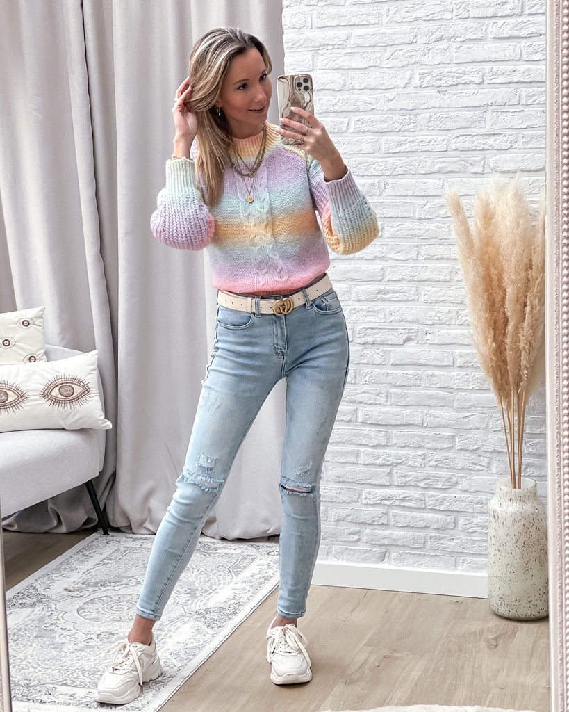Rainbow cable sweater
