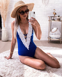 Lace swimsuit cobalt STOCKSALE 21