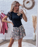 To the moon and back skirt black