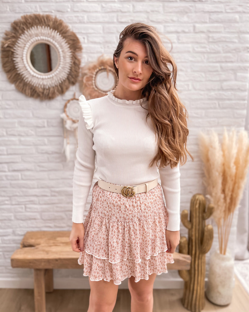 Hold me close skirt pink