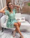Pretty lace dress mint