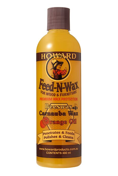 Howard Feed-N-Wax Polish and Conditioner - jessica's living room