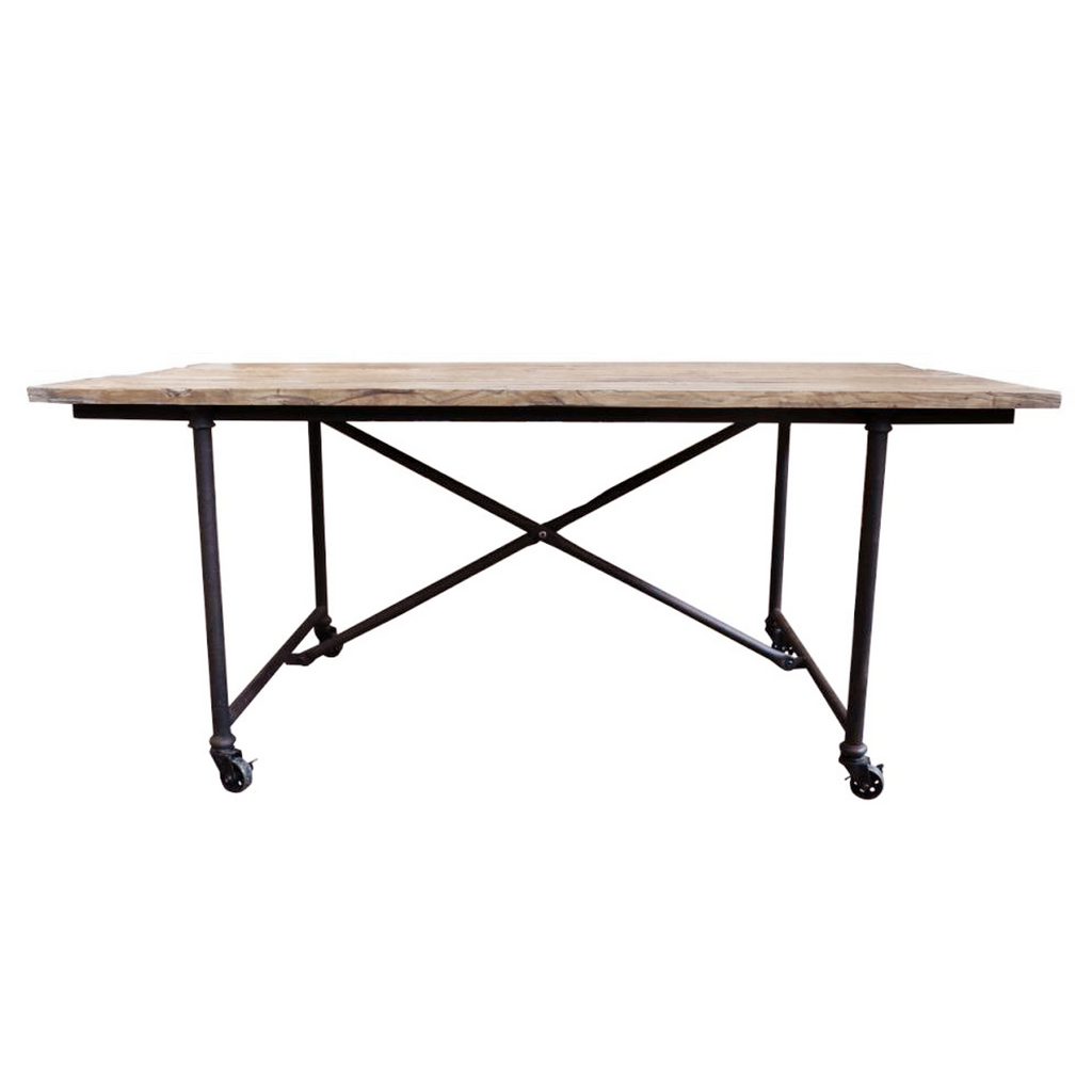 Recycled oak dining table NJ535