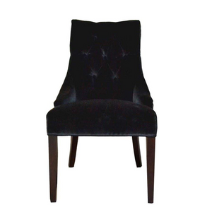 Livinia Black Velvet Chair SKU SJ236B