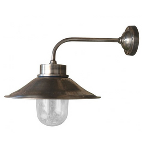 Cape Cod Brass Wall Lamp Silver Finish IP54