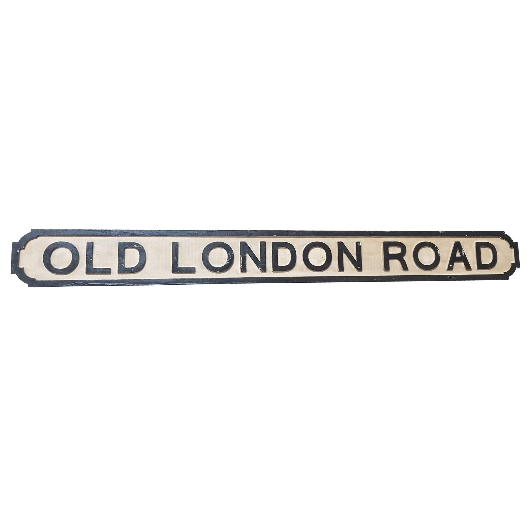 Old London Road Wooden Road Sign BG5