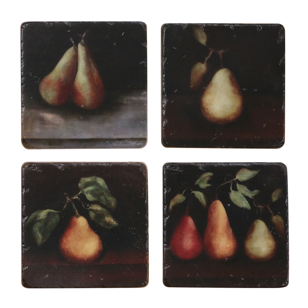 Raphael pear coaster set TU0476